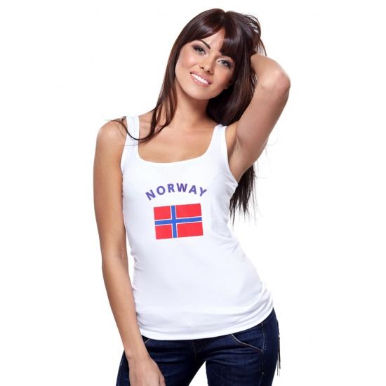 Image of Noorwegen tanktop met Noorse vlag print voor dames