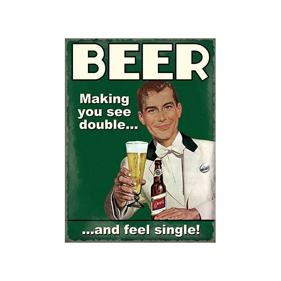 Image of Nostalgische reclame borden Bier