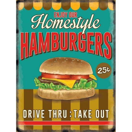 Image of Nostalgische reclame borden Hamburgers
