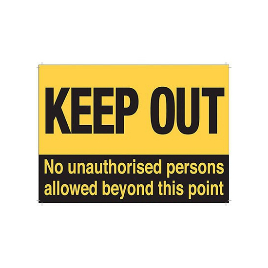 Image of Nostalgische reclame borden Keep Out