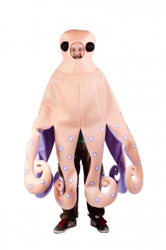 Octopus kostuum voor volwassenen. octopus kostuum met paarse binnenkant voor volwassenen. het kostuum betreft ...