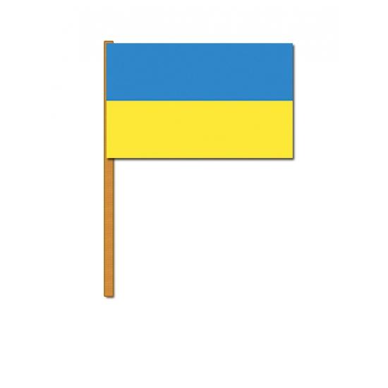 Image of Oekraine decoratie zwaaivlag