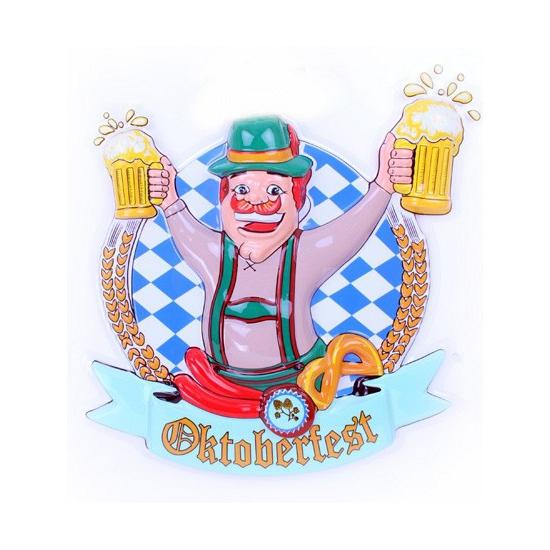 Image of Oktoberfest wandbord man met bier