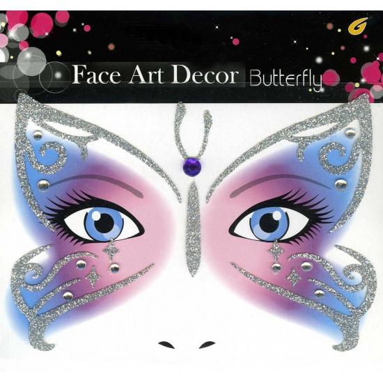 Image of Oog schmink sticker vlinder met glitters