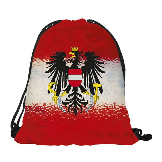 Image of Oostenrijk rugtas met rijgkoord