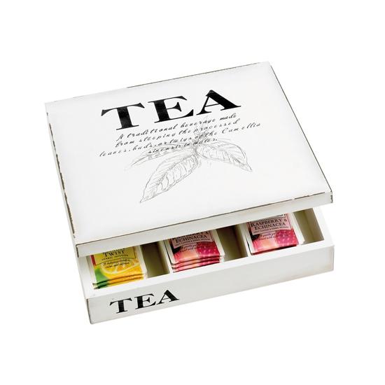 Image of Opbergbox voor thee vierkant 26 x 26 cm