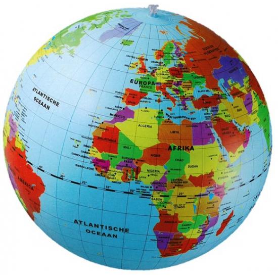 Image of Opblaas wereldbol 50 cm