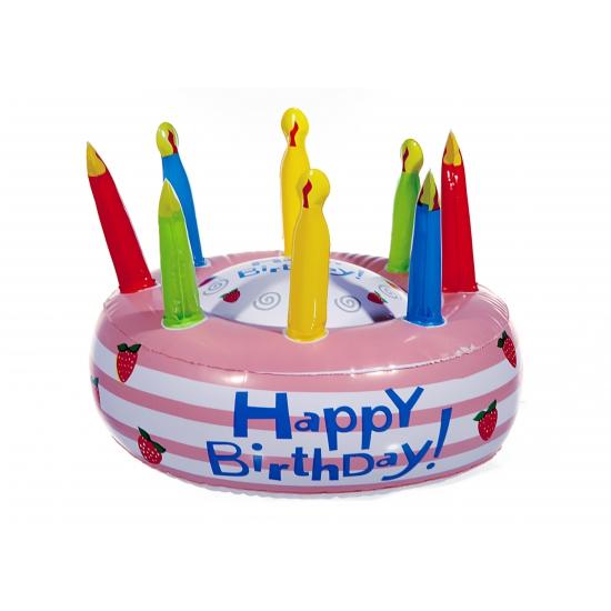 Image of Opblaasbare verjaardagstaart Happy Birthday