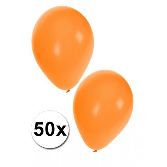 Oranje ballonnetjes 50 stuks