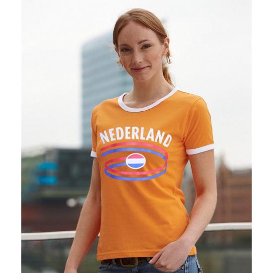 Oranje dames t shirt Nederland