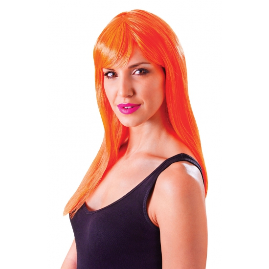 Image of Oranje damespruik met froufrou
