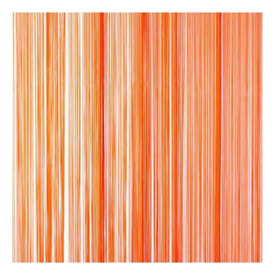 Oranje draadjes deurgordijn 90 x 200 cm