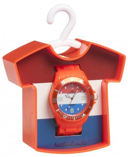 Oranje gekleurd horloge PVC