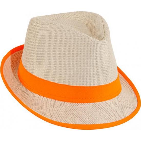 Image of Oranje hawaii hoedje