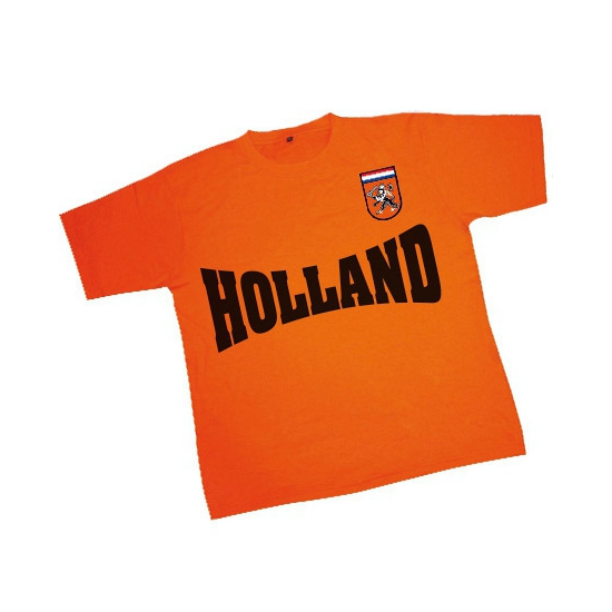 Image of Oranje Holland supporters t-shirt met batch