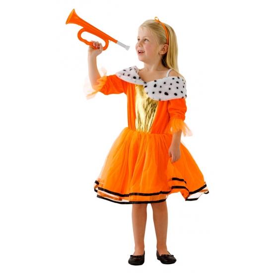 Oranje jurken voor kinderen