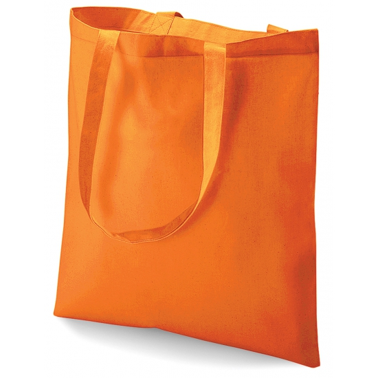 Image of Oranje katoenen tasje