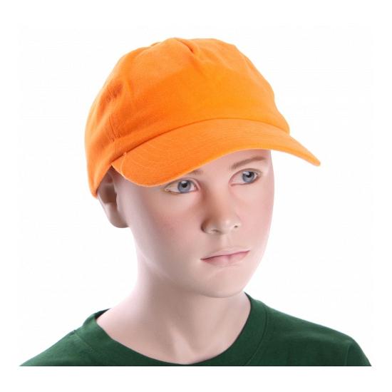 Oranje kinder baseballcap