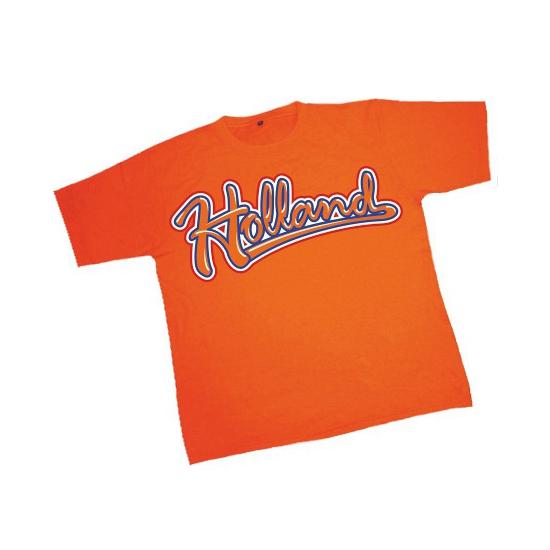 Oranje kinder t shirt met Holland