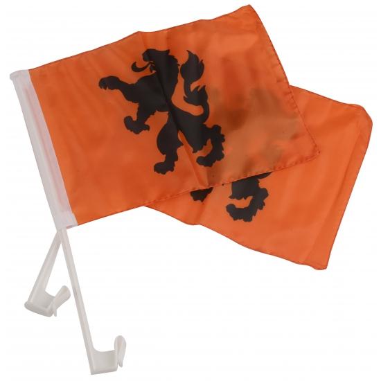 Oranje KNVB autovlaggetjes 20 x 30 cm