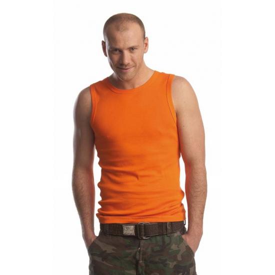 Oranje Koningsdag singlet tanktop