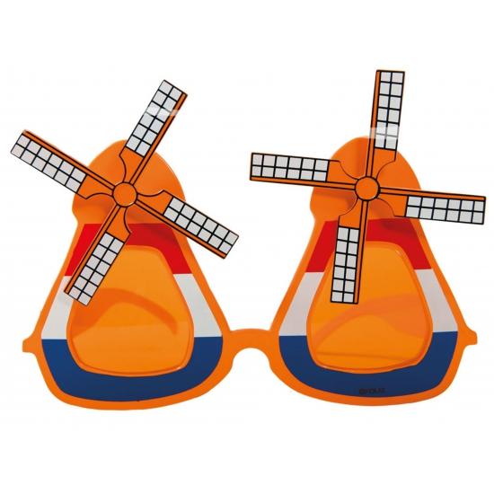 Image of Oranje molen bril volwassenen