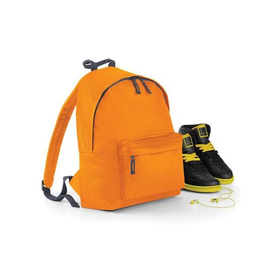 Oranje rugtas met voorvak voor kinderen