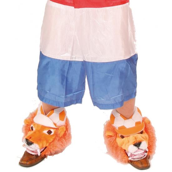 Oranje schoenhoezen met leeuw