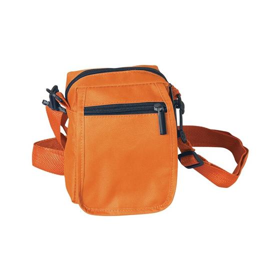 Oranje schoudertasje 15 cm
