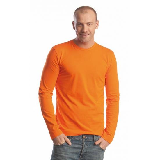 Oranje shirt met lange mouwen