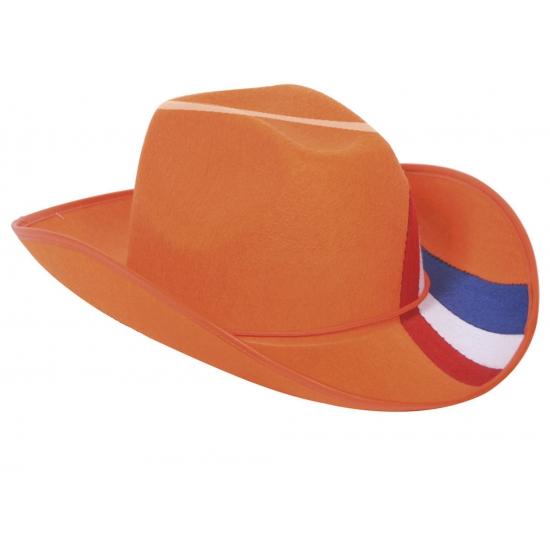 Oranje supporters hoed met NL vlag