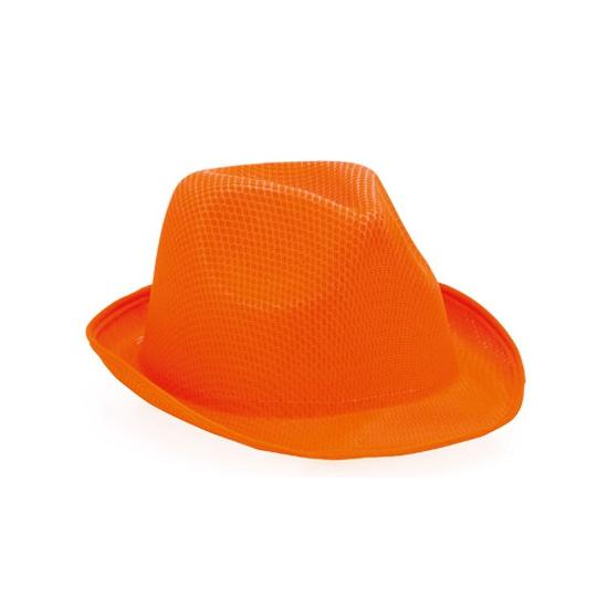 Image of Oranje trilby hoedje voor volwassenen