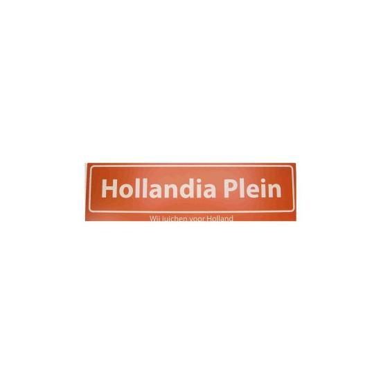 Image of Oranje versiering straatbord Hollandia Plein