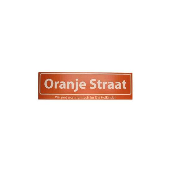 Image of Oranje versiering straatbord Oranje Straat