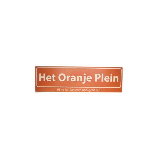 Image of Oranje versiering straatbord