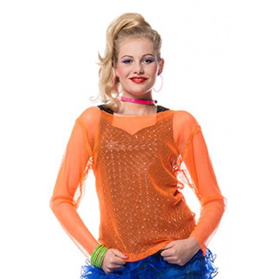 Oranje visnet shirtje voor dames