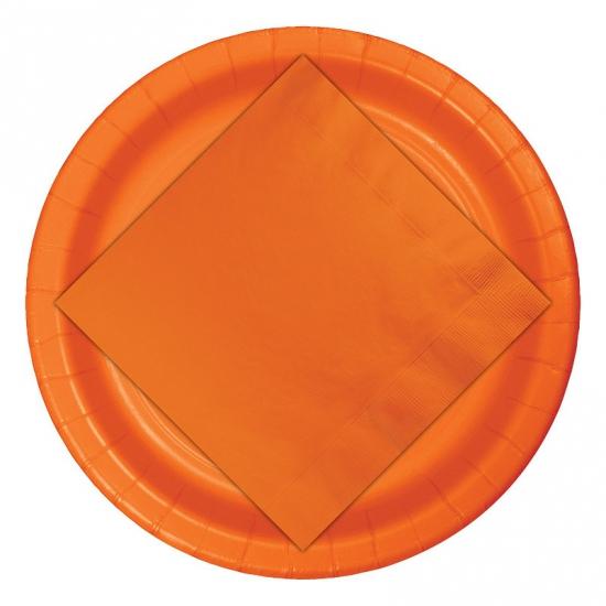 Image of Oranje weggooi borden 8 stuks