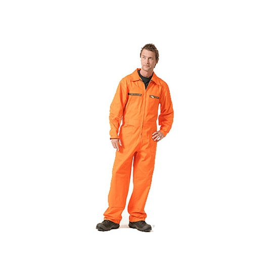 Oranje werk overall heren