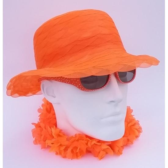 Organza ronde hoed oranje