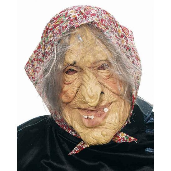 Image of Oude heksen vrouw masker