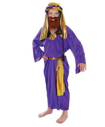 Drie koningen kostuum paars voor kids. kinder kostuum in de kleur paars van een van de drie wijzen uit het ...