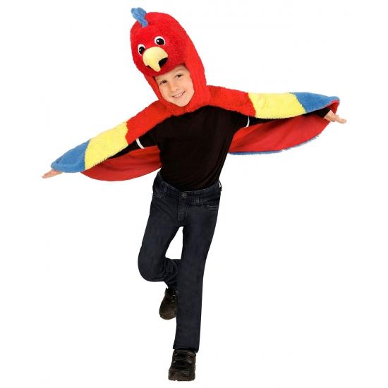 Verkleedkostuum papegaai voor peuters. deze verkleed cape met capuchon is geschikt voor kinderen van 2 tot 4 ...