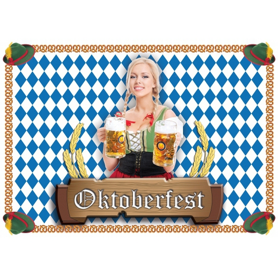 Papieren placemats Oktoberfest 100 stuks