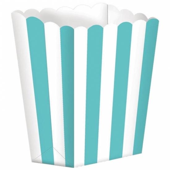 Image of Papieren popcorn bakjes mint 5 stuks