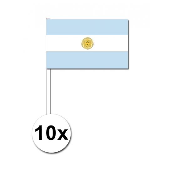 Image of Papieren zwaaivlaggetjes Argentinie 10x