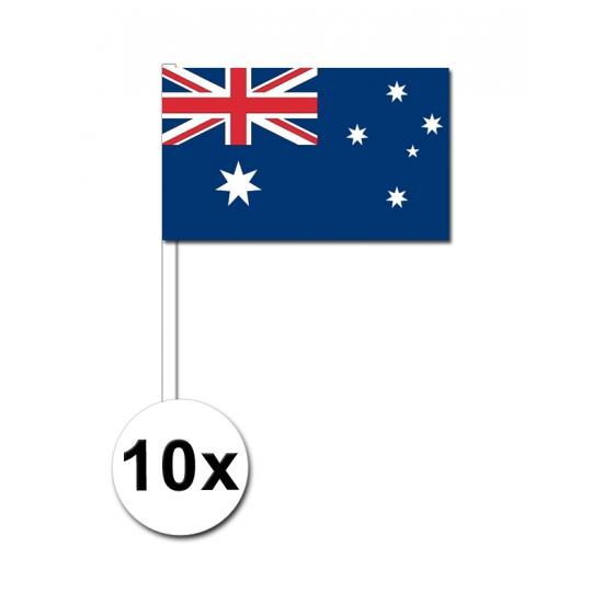 Image of Papieren zwaaivlaggetjes Australie 10x