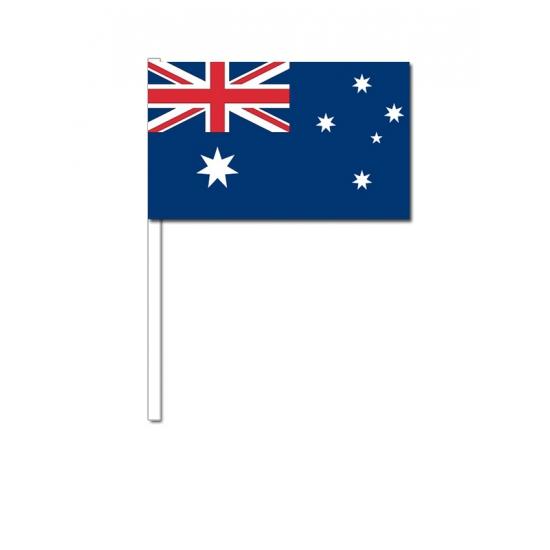 Image of Papieren zwaaivlaggetjes Australie 12 x 24 cm