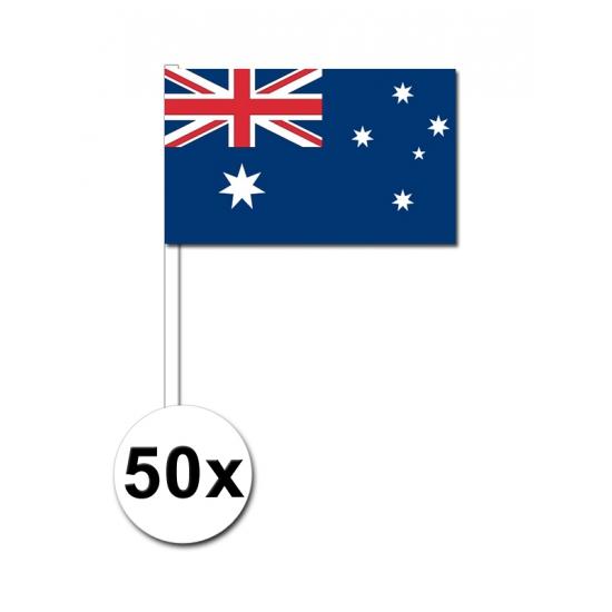 Image of Papieren zwaaivlaggetjes Australie 50x