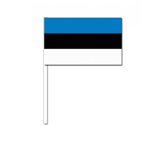 Papieren zwaaivlaggetjes Estland 12 x 24 cm