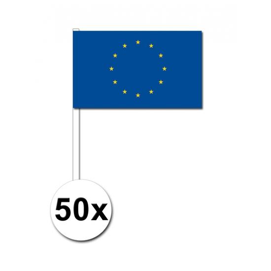 Image of Papieren zwaaivlaggetjes Europa 50x
